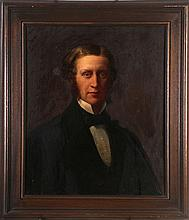 American School (19th Century) Portrait of a Gentleman, Oil on canvas, laid on board.