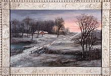 William Coventry Wall (1810-1886) Winter Landscape, Oil on canvas,