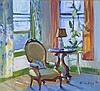 Adilson Hodges (20th Century) Interior Scene, Oil on canvas,