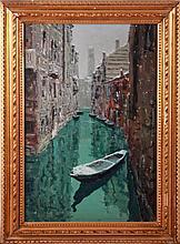 Italian School (20th Century) Venetian Canal Scene, Oil on canvas,
