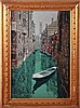 Italian School (20th Century) Venetian Canal Scene, Oil on canvas,