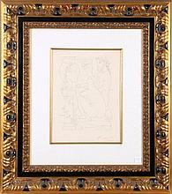 Pablo Picasso (1881-1973) Sculpteur Avec Coupe et Modele Accroupi, Etching on montval laid paper with Vollard watermark,