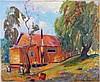 Artist Unknown (20th Century) Ohio Barn, Oil on canvas,