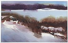 Malcolm Brown (20th Century) Scene with Lake, Watercolor,