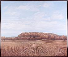 Anne Burkholder (b. 1940) Horizon 372, Mound Near White Cloud, Oil on canvas,