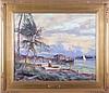 Robert C. Gruppé (b. 1944) By the Intercoastal Waterway, Oil on canvas,