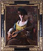 Samuel Burtis Baker (1882-1967) Viola with a Guitar, Oil on canvas,