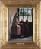 Jules Scalbert (1851-1928) The Connoisseurs, Oil on canvas,, Jules Scalbert, $800