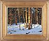 Michael B. Karas (b. 1954) Forest Light, Oil on board,