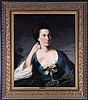 Attributed to David Martin (1736-1798) Portrait of Mrs. Trotter, Oil on canvas,