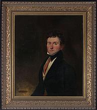Artist Unknown (19th Century) Portrait of a Gentleman, Oil on canvas, laid on board,