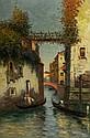 Dey de Ribcowsky (1880-1936) Canal Scene, Oil on canvas,