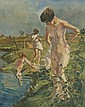 Erasmus B. Krumpelman (1897-1987) Bathing Nudes, Oil on canvas,