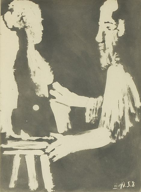 Pablo Picasso (1881-1973) Sculpteur au Travail, from the Sable Mouvant 1964, Aquatint on japon paper,