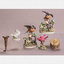 A Group of Four Porcelain Birds Form Figures, 20th Century,