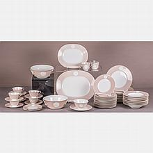 A Partial KPM Porcelain Dinner Service for Six in the Arcadia (Arkadia) Pattern, 20th Century,