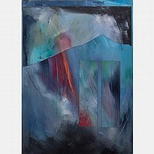 Jane Berger (American, 20th Century) Night Walk #1, Acrylic on canvas,