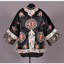 A Chinese Silk Embroidered Jacket, 20th Century.