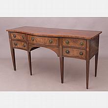 A Sheraton Style Mahogany Sideboard, 20th Century,