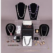 A Collection of Vintage and Contemporary Costume Jewelry.