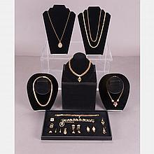 A Miscellaneous Collection of Low Karat Gold Plated Jewelry, 19th/20th Century,