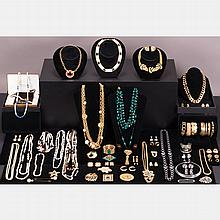 A Miscellaneous Collection of Costume Jewelry, c. 1980s,