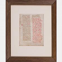 An Illuminated Manuscript, 14th Century.