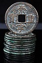 A Collection of Ten Northern Song Dynasty, Emperor Huizong (AD 1101-1125) Large Ten Cash Coins,