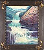 Cherry Ford White (American, active 1918-1940s) Mountain Scene with Waterfall, Oil on canvas,
