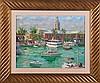 Igor Korotash (b. 1957) Tropical Coastal Harbor Scene, Oil on canvas,