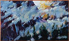 Mark David Gottsegen (1948-2013) Going-to-the-Sun, Glacier Park, 1991, Acrylic on board,