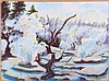 Mark David Gottsegen (1948-2013) Norris Geyer Basin, 1990, Acrylic on board,
