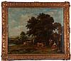 After Francesco Zuccarelli (1702-1788) Landscape, Oil on canvas, relined,
