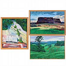 A Collection of Three Landscapes by Mark David Gottsegen (1948-2013),