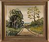 D. Ganatt (20th Century) Summer Lane, 1977, Oil on board,