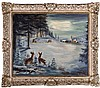 Harry Hoffman (20th Century) Winter Landscape, Oil on canvas,, Harry Zee Hoffman, Click for value