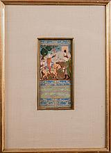 A Persian Miniature Illuminated Manuscript, 15th/16th Century.