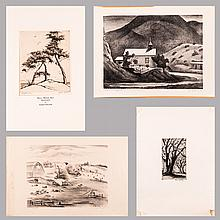 A Group of Four Prints by Various Artists, 19th/20th Century,