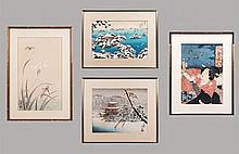 A Collection of Japanese Woodcuts by Various Artists, 19th/20th Century,