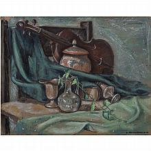 Richard Joseph Anuszkiewicz (b. 1930) Still Life, Oil on board,