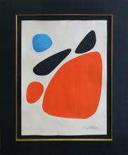 Alexander Calder hand signed lithograph