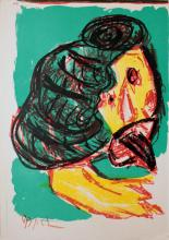 Karel Appel, one plate from