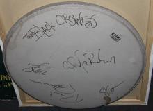 Black Crowes autographed drum head