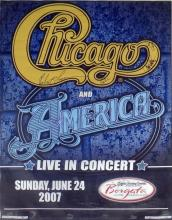 Chicago and America autographed poster