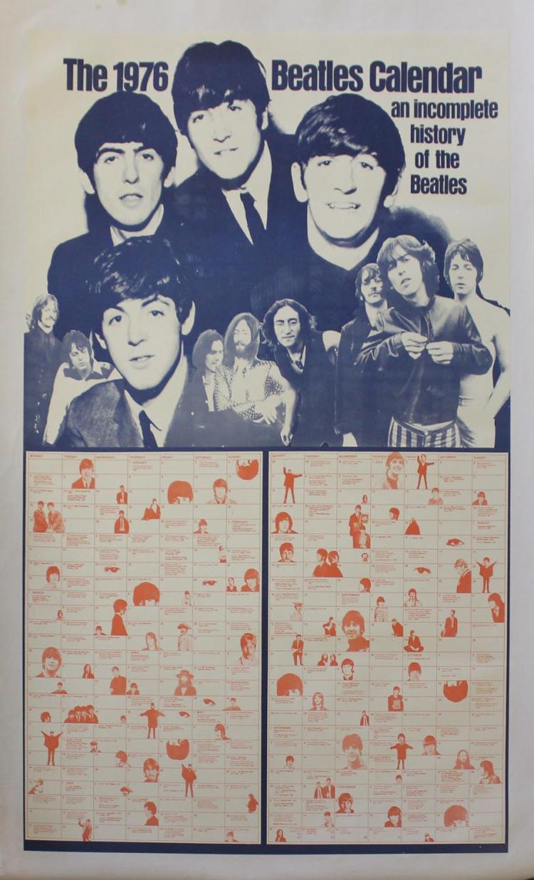 1976 Beatles Calendar, an Incomplete History of the