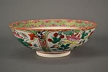 Antique Famille Rose Bowl size: 9'' diameter