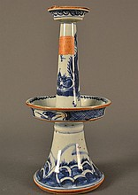 Blue and White Candlestick size: 9