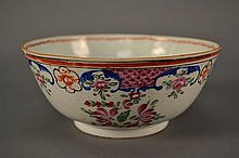 Chinese Export Bowl 19c size: 7.5