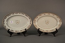 A Pair of Chinese Export Plates size: 7.75