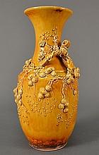 Chinese Yellow Glazed Vase size: 9